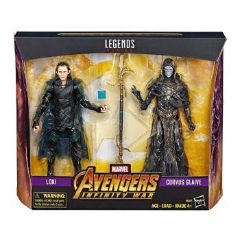 Marvel Legends Action Figure 2-Pack 2019 Corvus Glaive & Loki